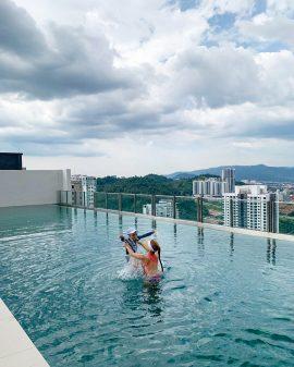 말레이시아 한달살기 1 친구집 수영장